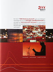 Titelseite Broschuere 2000-Watt-Gesellschaft
